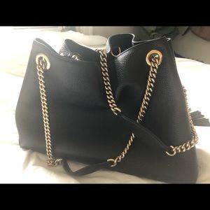 Gucci Bags - Gucci soho leather chain strap tote medium